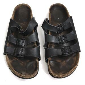 BIRKENSTOCK Sandals Worn-in Black Florida Birks 10